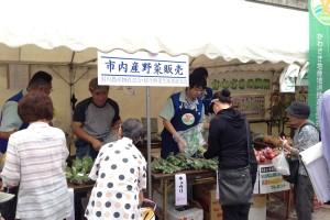 野菜販売ブースの様子